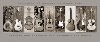 Guitar Shows Poster Sepia